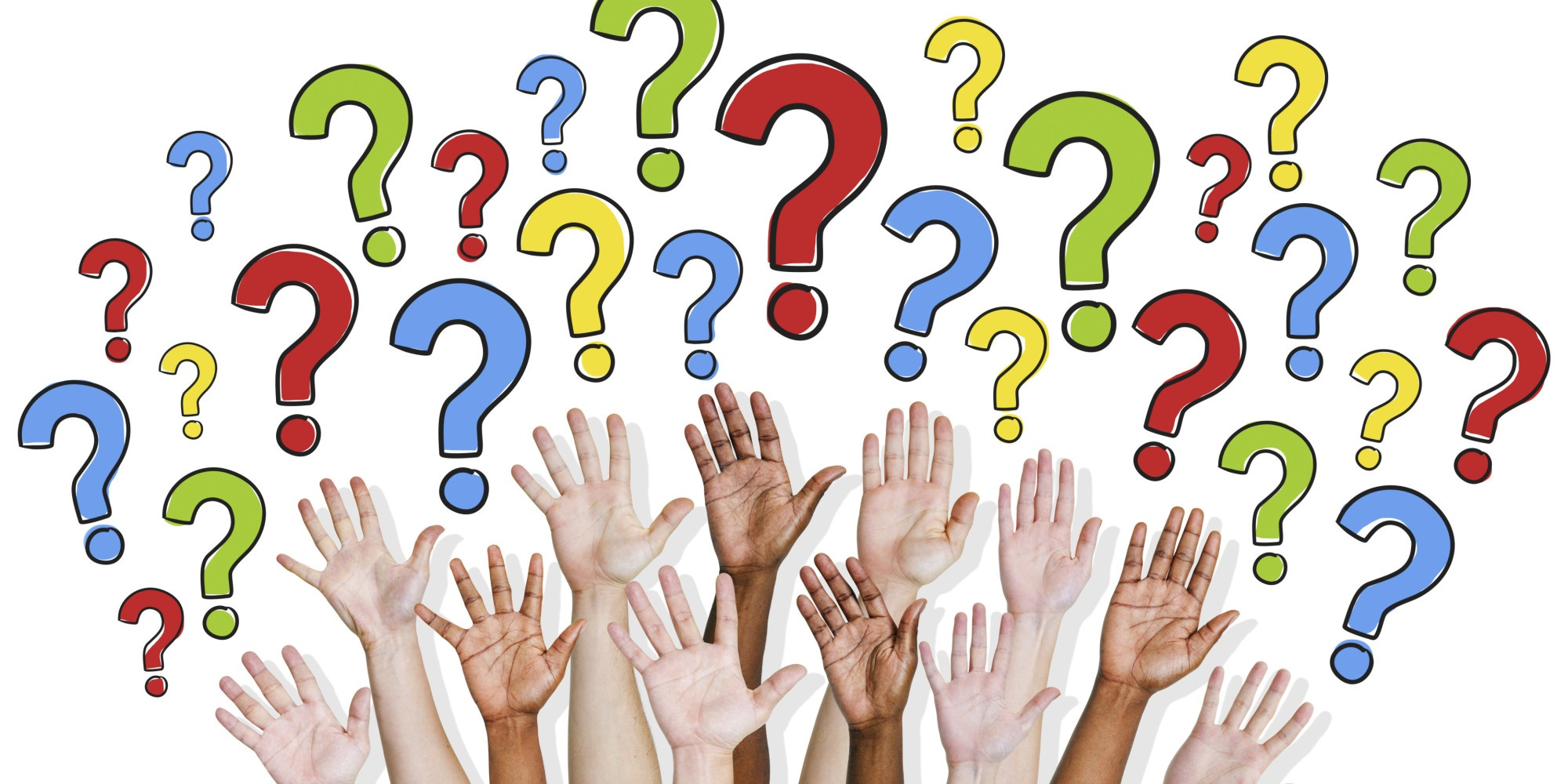 hands up asking questions